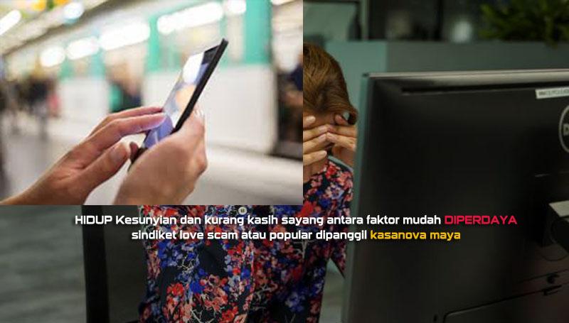 sindiket love scam semakin bergiat aktif melalui medai sosial